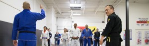 Lining Up in Jiu Jitsu Class