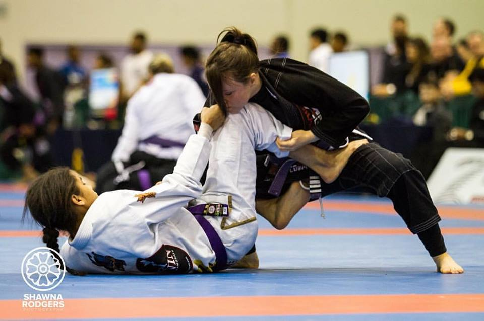 Baltimore BJJ star Vannessa Griffin working the guard.