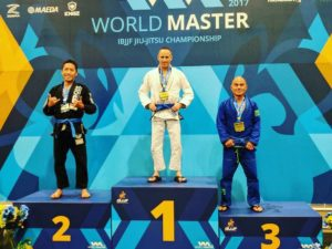 Maryland BJJ competitor Michael Silverman becomes the champion