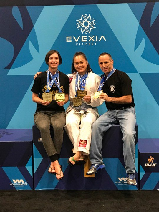 Maryland BJJ competitors Amanda Riggs, Michael Silverman, and Leona Mansapit become the champions