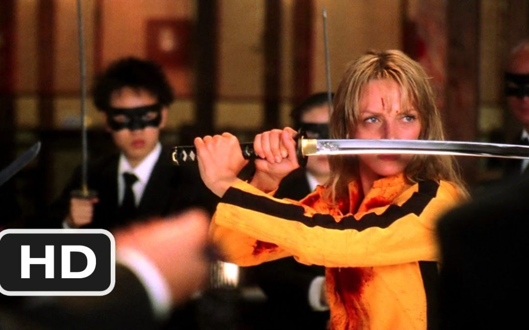 Uma Thurman squares off against the Crazy 88 in Quentin Tarantino's Kill Bill.